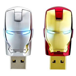 Free Shipping 2013 Wholesale Popular Iron Man Models Full Capacity  16GB 32GB  USB Flash Pen Drive Gift warranty