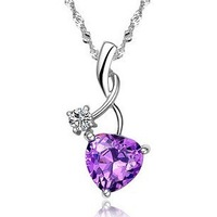2013 new design 925 pure silver jewelry pendant zircon crystal pure silver pendants female uy-p019