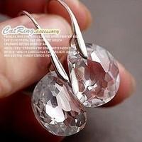 New Jewelry Brief shine egg shape crystal earrings for women 2E340
