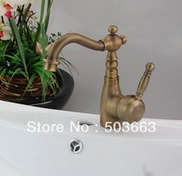 Wholesale New Classic Antique Brass New  Kitchen Bathroom Faucet Basin Sink Spray  Single Handle Mixer Tap   S-883