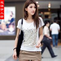 2014 summer short-sleeve clothes loose plus size clothing short-sleeve T-shirt female