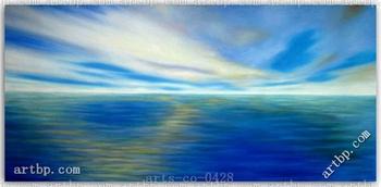 Hand Oil Painting Canvas Seascape Art Sunrise Canvas Art Set Of 5 Picture Frame For Living Room Lover Wall Art Handmade No Pri