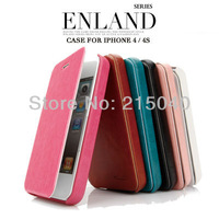Free Shipping! Luxury Original Brand KLD Kalaideng Leather Flip Case for iPhone 4 4s/Enland Series Cover +Retail Box, IP4-005