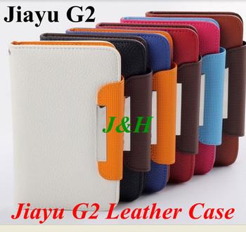 Freeshipping Original J&H Brand Universal JIAYU Leather Case Protective Cover For JIAYU G2 JY-G2 mtk6577/MTK6575 Mobile Phone