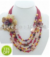wholesale freeshipping 33% off  gorgeous flower Necklace,wedding,gift necklace