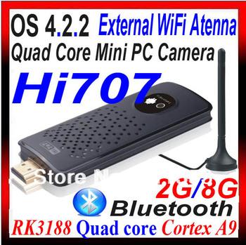 [Built-in camera] Hi 707 RK3188 Quad Core Mini PC Android TV Box 2GB DDR3 8GB Bluetooth HDMI WiFi XBMC DLNA Hi707