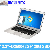 A133 Aluminum alloy Laptop 13.3inch Dual core, RAM 2GB SSD 128GB, Intel D2500, ultral slim notebook ultrabook