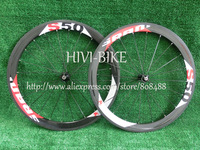 S50 full carbon bicycle wheels 50mm tubular road cycling bike wheelset ,Gloss finish, Spokes+Novatec Hub+quick release