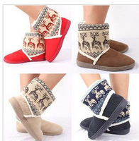 2013 New Feshion boots Short Plush ladies' Onta flats warm shoes home shoes snow boots for women Thicken Artificial