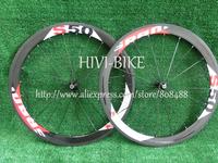 Toray T700 -high TG carbon bicycle wheels 50mm road cycling bike wheelset ,Gloss finish, Spokes+Novatec Hub+quick release