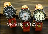 2013 New lady vintage big nunber time copper dial Designer women fashion Genuine leather quartz wrist watch