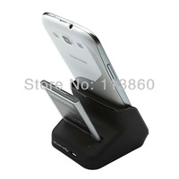 New Free Shipping For Samsung Galaxy S3 SIII i9300 i9303 Dual Sync Charger Holder Battery Charging Cradle Dock+USB Data cable