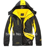 2013 new cotton fleece jacket thick warm clothing to increase men's sports jacket new men's cotton padded