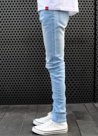 Guys in Light Blue Jeans Skinny Jeans Light Blue
