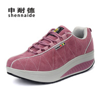 Free shipping newest fashion suede women platform sneakers size 35-40 from manufacturer