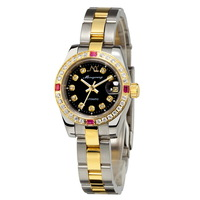 Monyoung gold automatic mechanical watch fashion diamond rhinestone ladies watch lovers table