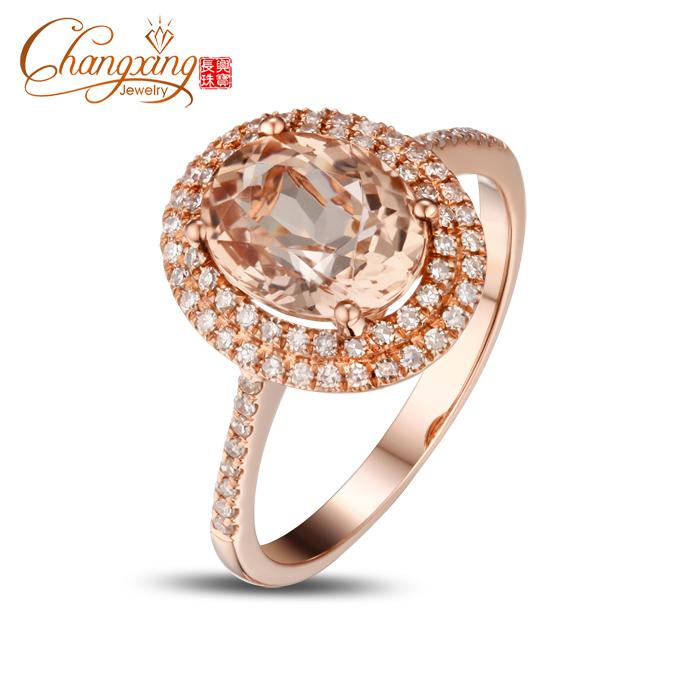 Unique Engagement Rings Rose Gold Morganite Rose Gold Engagement Ring
