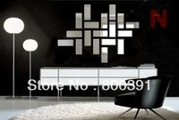 Free shipping,  new arrival  Living background mirror wall stickers ,fashion wall mirror stickers