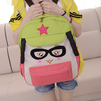 Girl primary school students canvas school bag casual sports double-shoulder fashion backpack