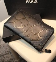 2013 Fashion  women stone pattern long design  PU wallet lady purse retails and wholesale free shipping