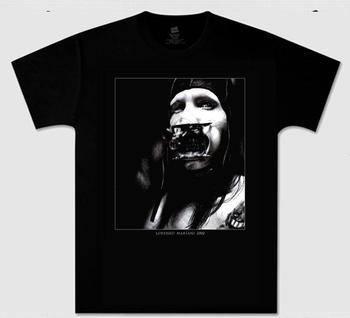 Zombie marilyn . manson personal jesus t-shirt.custom logo,t-shirt printing,make your own t shirt short sleeve Free shipping