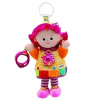 Free shipping Hot sale  lovely Emily girl doll rattle baby bed hanging plush toys bell infant newborn baby plush toy gift 1 pc