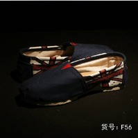 F56 British flag printed canvas shoes lazy shoes LOVERS flat shoes