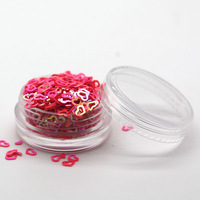 Nail Beauty Decoration Glitter Flower, 12 jars/lot Nail Tip Glitters, Hallow Love Heart Nail Glitter with Free Ship
