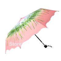 2013 new Orchids  laciness three folding flower  manual  umbrella rain women , anti-uv sun protection umbrella