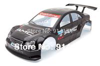 1/10 RC car parts 1:10 R/C car body shell  200mm  black  No 014BK free shipping