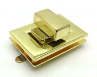 36mm X 25mm Gold Zinc Alloy Turn Lock Handbag Metal Hardware Accessory HOXY Wholesale Factory Outlet JW11-TL2436G