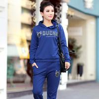 Free Shipping,2013 autumn fashion clothes ,women's slim long-sleeve T-shirt ,autumn set plus size sweatshirts,