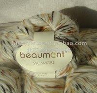 Big alpaca yarn handmade knitted hat scarf overcoat line