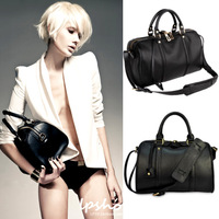 2013 brand new fashion women OL black genuine leather totes, handbags, messenger bags, shoulder bag, sling bags
