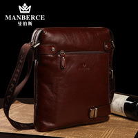 Man bag cowhide male shoulder bag messenger bag backpack casual business bag