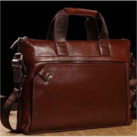 Man bag male genuine leather first layer of cowhide laptop bag briefcase handbag casual commercial