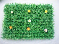 HOT SALE UV PROTECTED Artificial plastic boxwood grass lawn with flower star mat thickening carpet balcony decoration 25cm*25cm