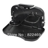 Stylish Car Seat Foldable Food and Drink Tray Cup Holder Car Restaurant For All Car Decor -Black