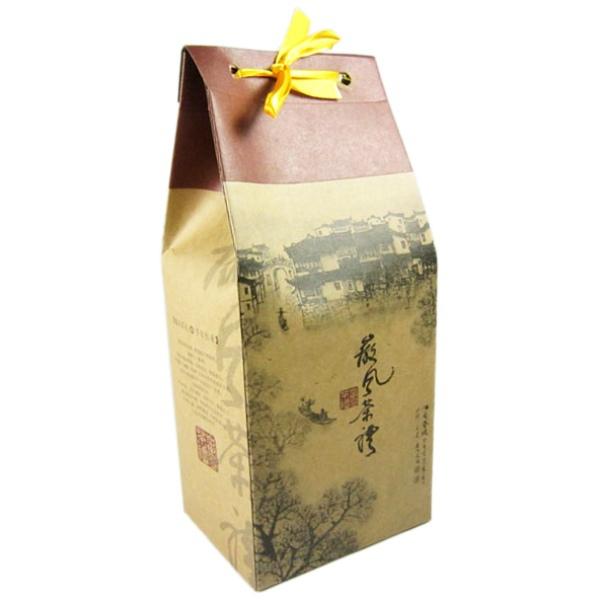 Free shipping universal drawstring printed paper bags kraft 20 pcs lot stand up packaging for gift tea pu er 250g(China (Mainland))