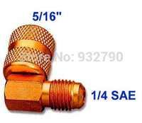 AC Car R410a Refrigeration Adapter Connector Adaptor M1/4sae-F5/16 For R410a Gauges Hoses Vacuum Pump Adaptor HVAC System New