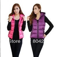 2013 women winter autumn vest new fashion designer sleveless jacket warm women waistcoat