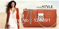 2013 Best selling Multifunction Women's Genuine Leather Handbag Clutch+Shoulder+Messenger Bag, free shipping H-112