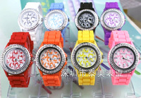 Free shipping - 1pcs-Silicone watch fashion  leopard Starry diamond  Ladies watches
