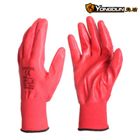 Free shipping factory wholesale kevlar gloves work gloves slip-resistant nylon knitted gloves nitrile gloves
