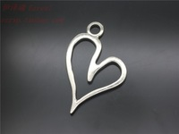 Heart Charm pendant Jewelry Accessories alloy vintage antique silver love pendant charm 100pcs/lot Free Shipping