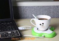 HOT Portable USB Gadgets,USB Port Warmer Heat Preservation Plate,Milk,Coffee,Drink Heating Tool,Green/Pink/Yellow, Free Shipping