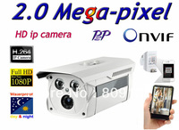Free shippin CCTV H.264 2.0 Megapixel 1920*1080  IP Network Outdoor Night Vision Security IR Camera
