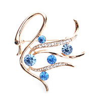 Gift box yapolo exquisite brooch corsage rhinestone exquisite fashion pins female a0535