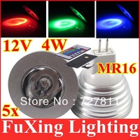 3W 4W MR16 RGB LED Light 16 Color Changing Bulb lamp Downlight For Holiday Party Decoration 4pcs/lot Freeshipping