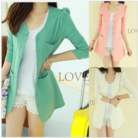 2013 spring and autumn women's suit jacket slim medium-long plus size blazer coat